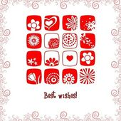 Greeting card best wishes — Stock Vector