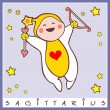 Baby birth greeting card with starsign — Stock Vector #10650195