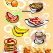 Breakfast Menu Pictures - Stock vektor