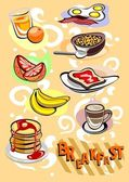 Breakfast Menu Pictures — Stock Vector