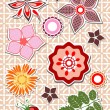 Floral elements scrap booking — Stock Vector