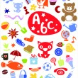 Royalty-Free Stock Vector Image: Different cute colorful  elements