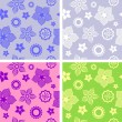 图库矢量图片: Seamless flower pattern