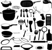 Ferramentas da cozinha — Vetor de Stock