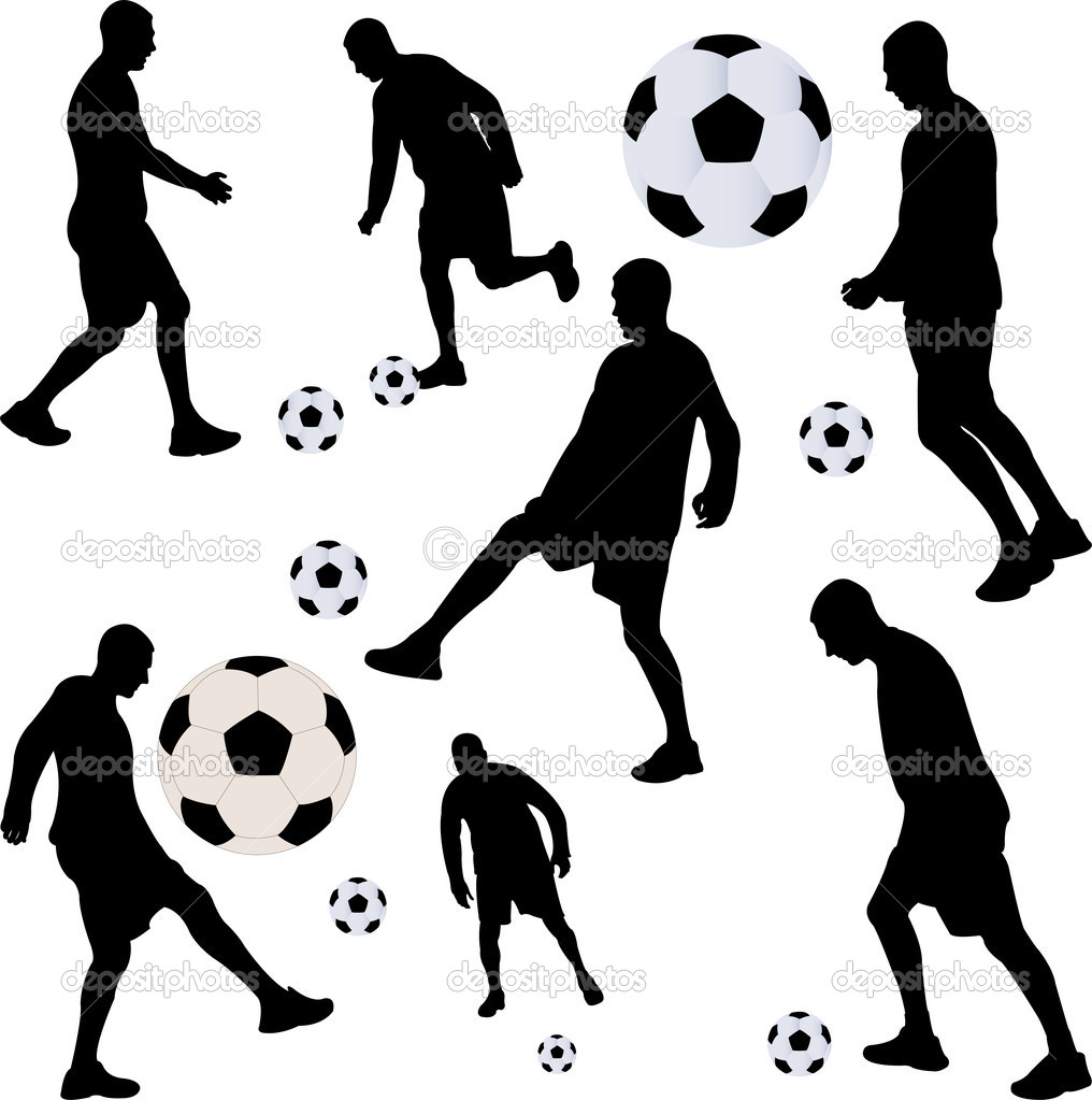 Soccer player collection - vector  Stock Vector #9013229