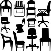 Chair collection — Stock Vector