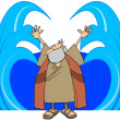 Stock Photo: Moses Parting Waters