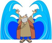 Moses Parting The Waters — Stock Photo