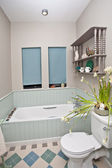 Showcase of bathroom interior — Stock Photo