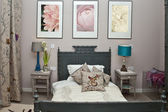 Showcase of bedroom interior — Stock Photo
