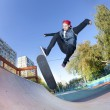 Skateboarder in skatepark — Stock Photo #10032541