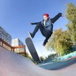Skateboarder in the skatepark — Stock Photo #10032541