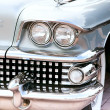 Classic old car close-up front right view — Stock Photo #10032572