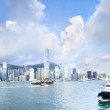 View of the skyscrapers of Hong Kong Island — Stock Photo