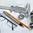 Tools and mechanisms detail - Stock Photo