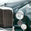 Stock Photo: Classic old car close-up front view