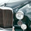 Classic old car close-up front view — Stock Photo