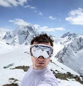Kafkas Dağları'nda snowboard — Stok fotoğraf