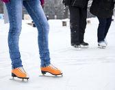 脚溜冰 — 图库照片