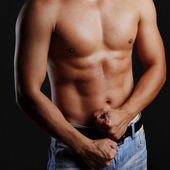 Muscular male torso — Stock Photo