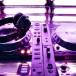 Dj mixer with headphones — Stock Photo #9006595