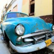 Classic old car is blue color — Stock Photo #9006596