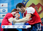 Armwrestling Championship in Moscow — Stock Photo