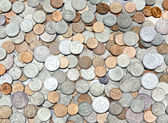 The background of the coins — Stock Photo