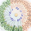 Euro banknotes closeup — Stock Photo