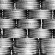 Pyramid of the coins — Stock Photo