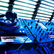 Dj mixer with headphones — Stock Photo #9237606