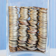 Macro different coins — Stock Photo