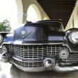 Classic old car is black color — Photo #9290325