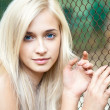 Attractive beautiful blonde girl — Stock Photo
