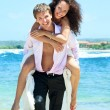 Young happy couple on vacation — Stock Photo #9290408