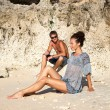 Young happy couple on vacation — Stock Photo #9290435