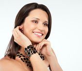 Attractive smiling woman — Stock Photo
