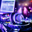 Dj mixer with headphones — Stock Photo #9484853