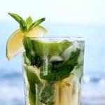 Cocktail mojito ice lemon — Stock Photo #9484859