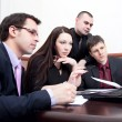 Businesspeople at a meeting in the office — Stock Photo