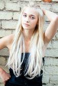 Attractive beautiful blonde girl — Stock Photo