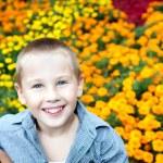 Portrait of beautiful young boy — Stock Photo