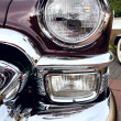 Classic old car close-up front right view — Stock Photo #9624909