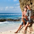 Young happy couple on vacation — Stock Photo #9624928