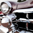 Classic old car close-up front left view — Foto de Stock
