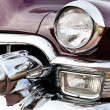 Classic old car close-up front right view — Stock Photo