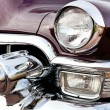 Classic old car close-up front right view — Stock Photo #9625007