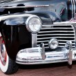 Classic old car black front left view — Stock Photo