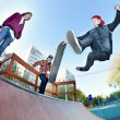 Skateboarder in skatepark — Stock Photo #9625031
