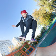 Skateboarder in the skatepark — Stock Photo #9625048